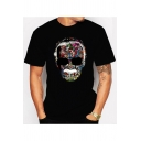Awesome Colorful Figure American Comic Book Writer Print Crewneck Short Sleeve Black T-Shirt