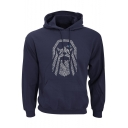 Hip Hop Street Style Long Sleeve Pattern Drawstring Hoodie