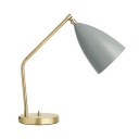 Conical Table Lamp Designers Style Adjustable Metal 1 Head Desk Light in Gray for Bedroom