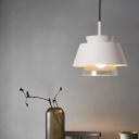 Cone Shade Suspension Light Metal Wire Powered Ceiling Light in White for Kitchen