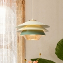 Cone Ceiling Lamp with Multi Tier Stylish Macaron Suspended Lamp for Restaurant