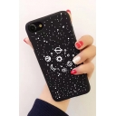 Basic Simple Black Earth Galaxy Printed Unisex Mobile Phone Case for iPhone