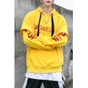 Guys Hip Hop Fashion Letter Graffiti Layered Patched Long Sleeve Oversized Loose Hoodie