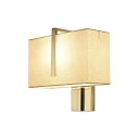 Modern Simple Rectangle Sconce Light Stainless 1 Bulb Wall Light in Chrome for Bedside