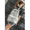 28*17*39cm Fashion Pattern Simple Large Capacity School Bag Backpack for Girls