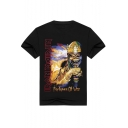 Cool 3D Star Wars Darth Vader Printed Short Sleeve Casual Black T-Shirt