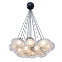 Inner Glass Shade Suspension Lamp Modern Multi Egg Shaped LED Pendant Lamp for Living Room