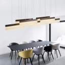 Linear Pendant Light Stylish Modern Acrylic Multi Light Hanging Lamp for Living Room