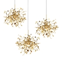 3-Light Sputnik Suspended Light Contemporary Stainless Steel LED Drop Light for Living Room