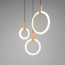 Halo Ring Pendant Light Simplicity Acrylic Multi Light Suspension Light for Bedroom