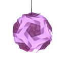 Orange/Purple Globe Hanging Lamp Contemporary Plastic 1 Light Pendant Light for Porch