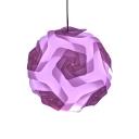 Orange/Purple Globe Hanging Lamp Contemporary Plastic 1 Light Pendant Light for Porch