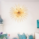 Sputnik Chandelier Light Contemporary Metal Multi Light Suspended Light in Brass