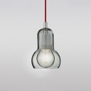 Gourd Suspension Light Modern Design Smoke Glass 1 Head Drop Light for Sitting Room