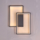 Rectangular Lighting Fixture Modernism Plastic LED Wall Light Sconce in Warm/White