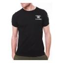 Cool U.S.ARMY Logo Print Men's Stretch Bodybuilding Slim Cotton T-Shirt