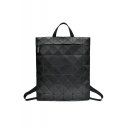 Fashion Geometric Zip Closure Backpack School Bag