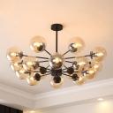 Multi Light Modo Chandelier Ultra Modern Large Decorative Suspension Light for Bedroom