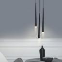 Spire Hanging Light Simplicity Metal 3 Light Art Deco LED Lighting Fixture for Bedroom Foyer