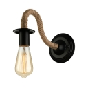Real Simple Industrial Rope LED Wall Sconce