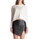 Hot Split Side High Waist Mini Black PU Skirt