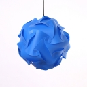 Blue Sphere DIY Hanging Light Modern Fashion Plastic Single Head Drop Ceiling Lighting