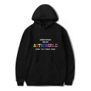 Hot Popular Letter ASTROWORLD WISH YOU WERE HERE Print Men's Loose Leisure Pullover Hoodie