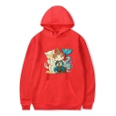 New Trendy Cartoon Comic Figure Printed Long Sleeve Unisex Loose Fit Hoodie