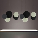 Resin Disc Hanging Light Nordic Style Simple Multi Light Indoor Lighting Fixture for Restaurant