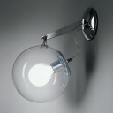 Globe Wall Lighting Modern Fashion Clear Glass 1 Bulb Wall Mount Light for Coffee Shop