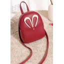 Lovely Cute Cartoon Rabbit Ear Patched Mini PU Crossbody Bag for Girls 16*6*20cm