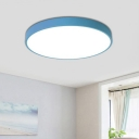 Ultra Thin LED Flush Mount Macaron Blue/Gray/White Acrylic Ceiling Light for Living Room