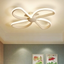 Windmill LED Flush Mount Black/White Metal Lighting Fixture for Coffee Shop Baby Kids Room