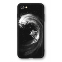 Cool Surfing Astronaut Print Black Soft Shatter-Resistant iPhone Case