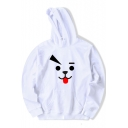Lovely Cartoon Printed Long Sleeve Casual Loose Pullover Hoodie