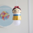 Cute Prince/Princess Suspended Light Cartoon Baby Kids Room Plastic 1 Light Pendant Light