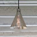 Single Light Cone Suspended Light Modernism Mercury Glass Lighting Fixture for Corridor