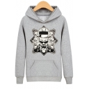 Fashion Letter BR BA Figure Heisenberg Printed Regular Fit Men's Sports Hoodie