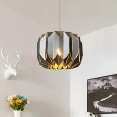 Black Finish Origami Suspended Lamp Modernism Aluminum Single Light Pendant Lamp