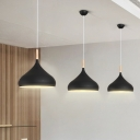 Wooden Teardrop Suspension Light Modernism 1 Light Accent Lighting Fixture in Black