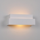 2 Tiers Sconce Light Concise Simple Plaster 1 Head Wall Light Fixture in White for Porch