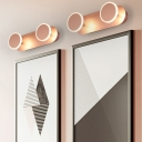 2/3/4 Lights Disc Vanity Light Post Modern Acrylic Makeup Mirror Light in Rose Gold for Bedroom