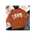 Unique Letter LOVE HATE Print Street Fashion Cotton Casual T-Shirt
