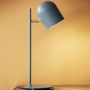 Colorful Simple Cup Table Lamp Metal Desk Light in Blue/Pink/Yellow for Study Room