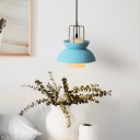 Half Round Pendant Light Macaron Contemporary Glass Drop Light for Children Room