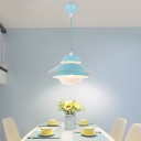 4 Tiers Ceiling Light Macaron Stylish Glass Drop Light for Children Room Study Room