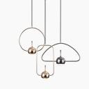 Gold/Nickel Finish Geometric LED Hanging Pendant Lights Post Modern Metal 1 Light Suspension Lamp