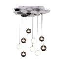 Mini Cluster Pendant Light Modern Design Glass Multi Light Suspension Light for Bedroom