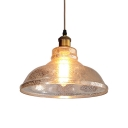 Mercury Glass Dome Hanging Light Modern Fashion 1 Light Pendant Lamp in Brass for Kitchen