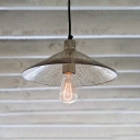 Flared Hanging Lamp Minimalist Mercury Glass 1 Bulb Suspended Light for Restaurant